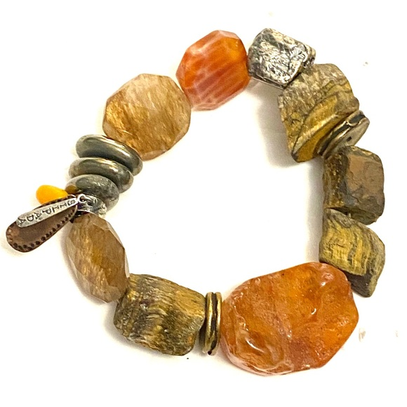 SILPADA HEAT WAVE Chunky Stone Bracelet 925